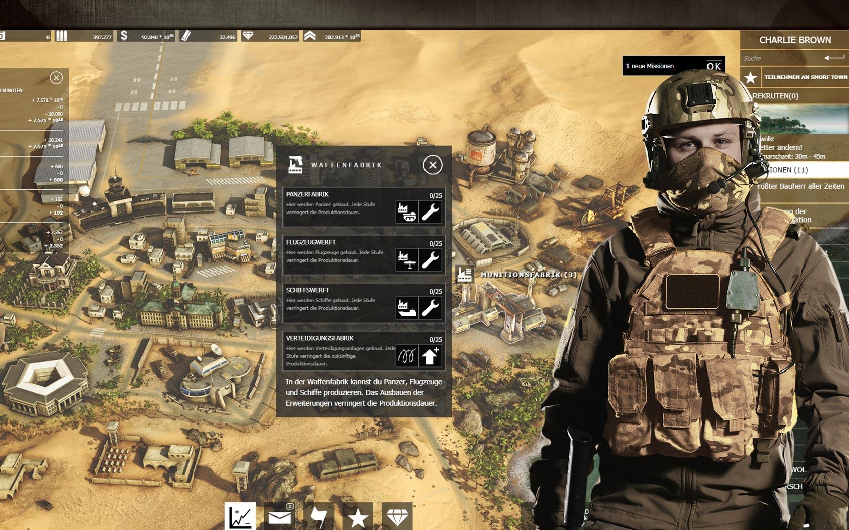 جنرالات الحرب لعبة المتصفح العسكرية المجانية