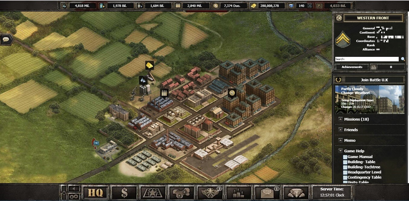 Online Military Strategy Game - Shadez The Black Operations