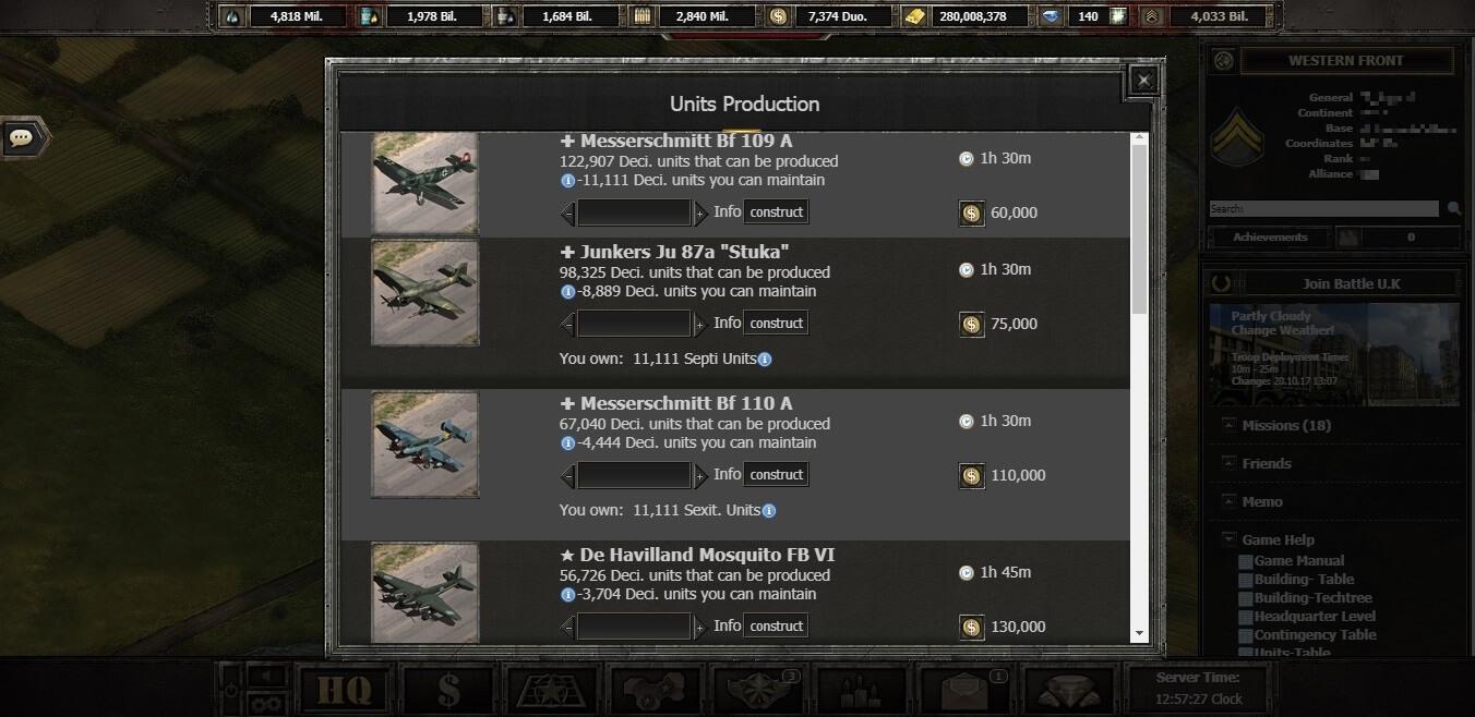 Wargame 1942 - Online strategy game in World War II