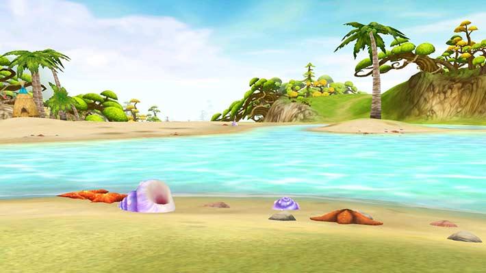 Fiesta Online Screenshot Strand mit Muscheln
