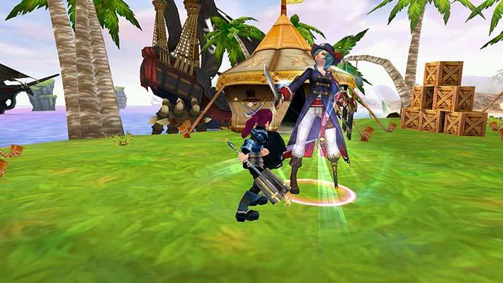 Fiesta Online Screenshot vom Kampf mit der Marapiratin