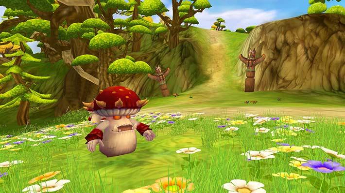Fiesta Online Screenshot von einem Feuerpilz