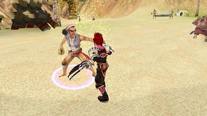 Fiesta Online Screenshot Joker kämpft am Strand gegen einen Piraten